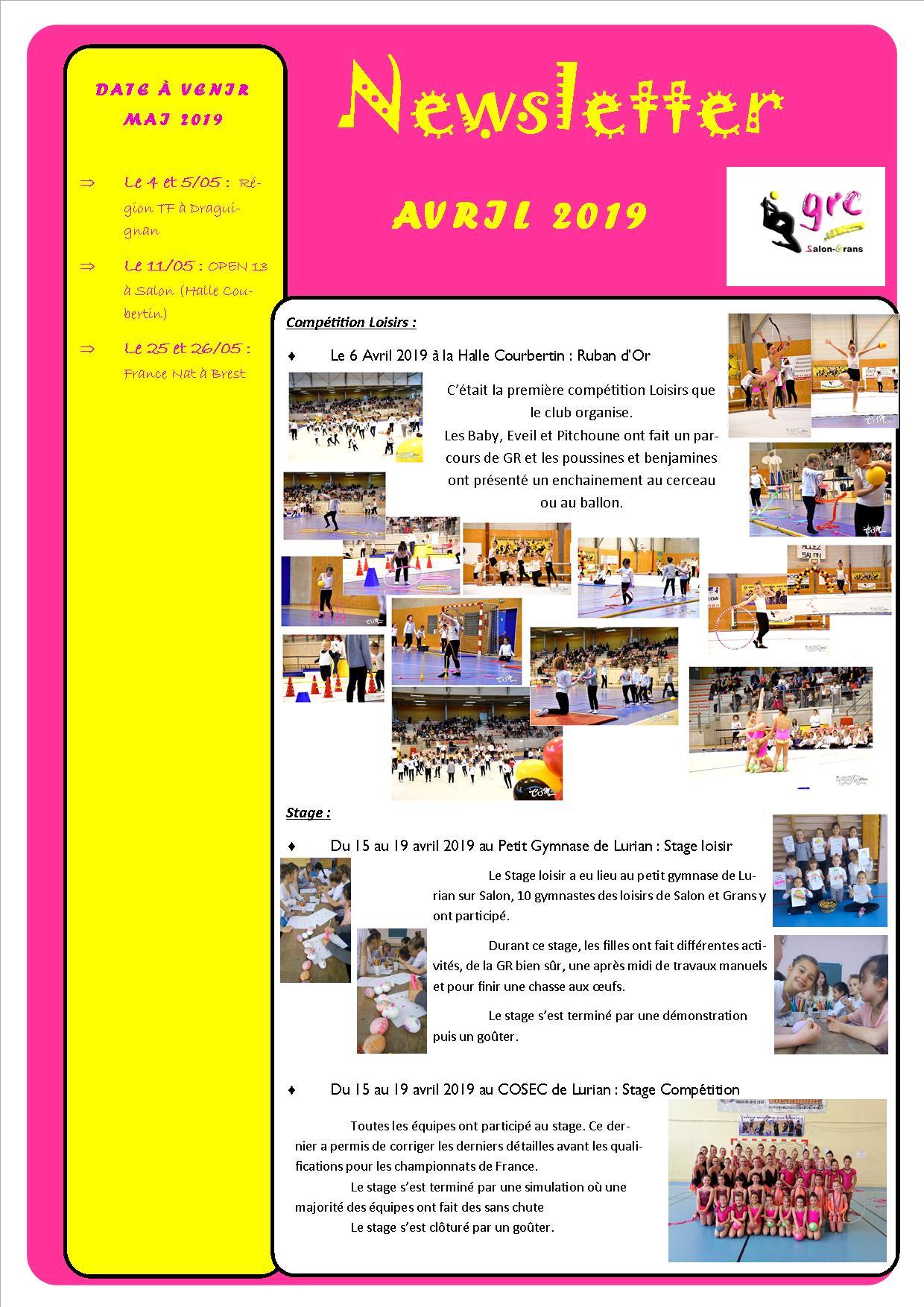 13 newsletter avril 2019