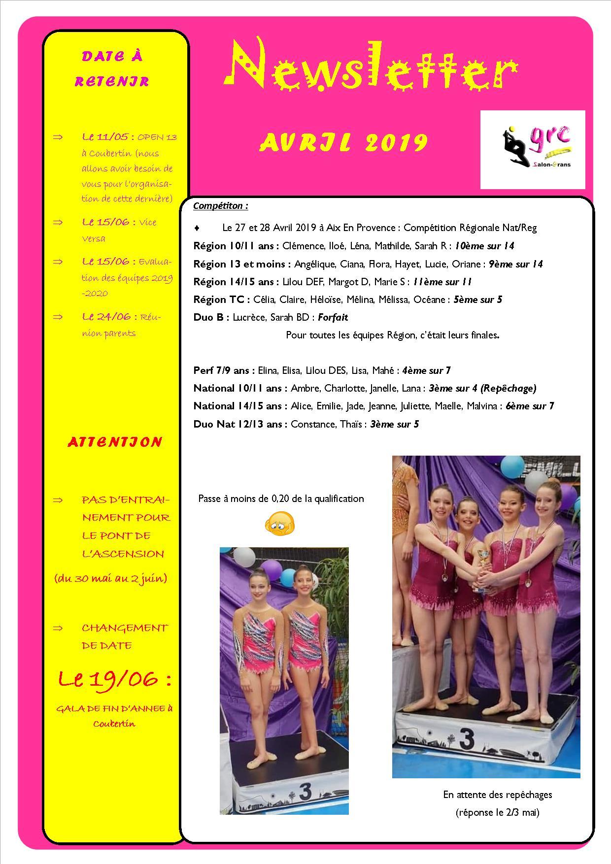 13 newsletter avril bis 2019