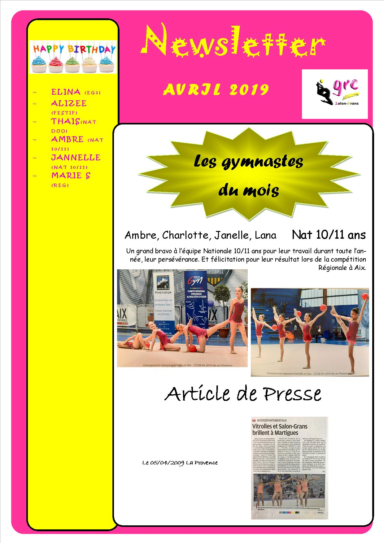13 newsletter avril bis2 2019