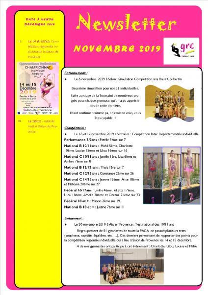 20 newsletter novembre 2019